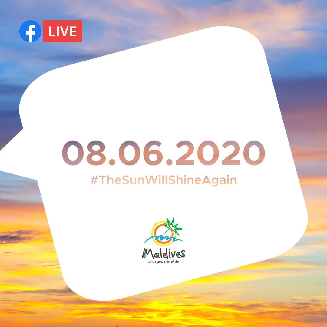 Illustration created by visit maldives facebook live event