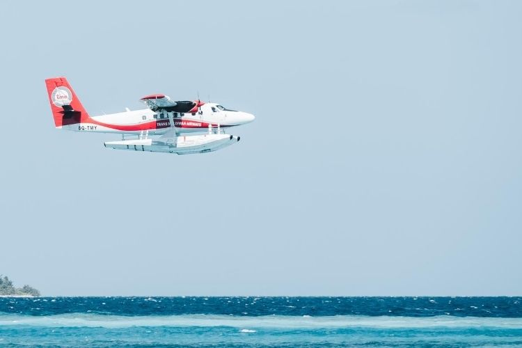 Trans Maldivian Airways seaplane take-off