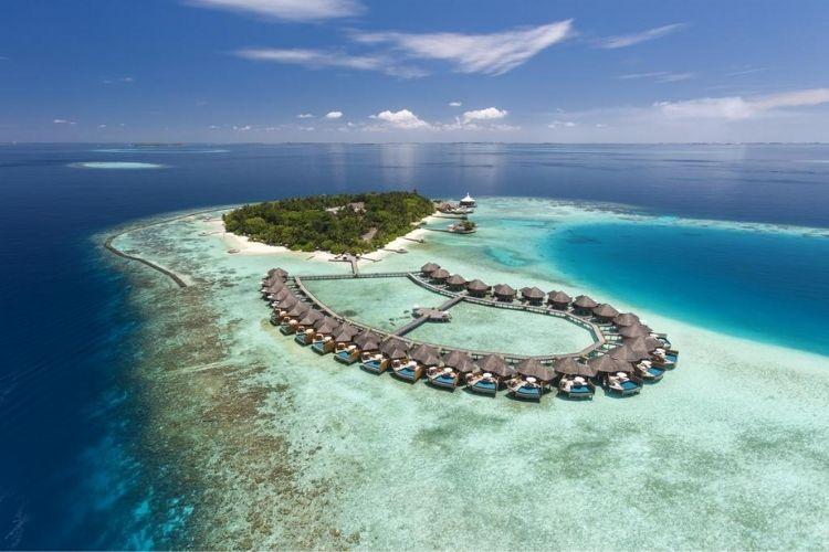 aerial view of Baros Maldives