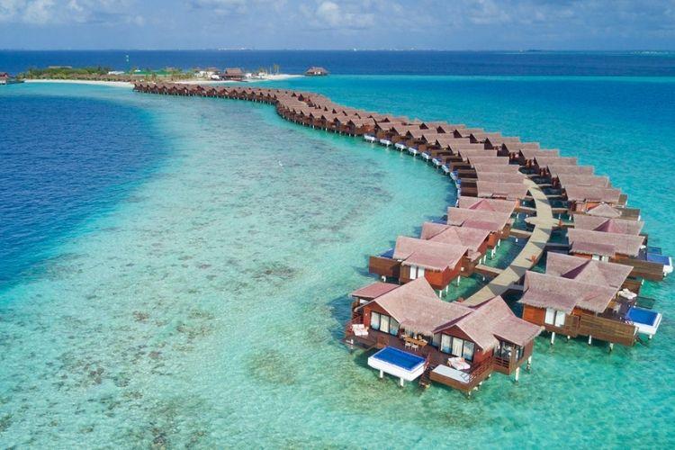 aerial view of grand park kodhipparu maldives