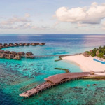 aerial view of St. Regis Maldives Vommuli Resort