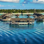 Velaa Private Island in Maldives with its over water villas