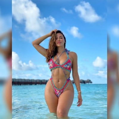 Ana Cheri in the Maldives