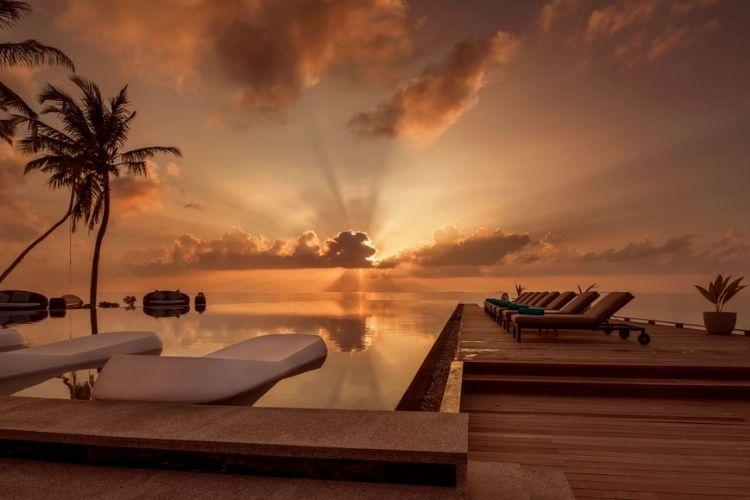 Sunset at Fushifaru Maldives