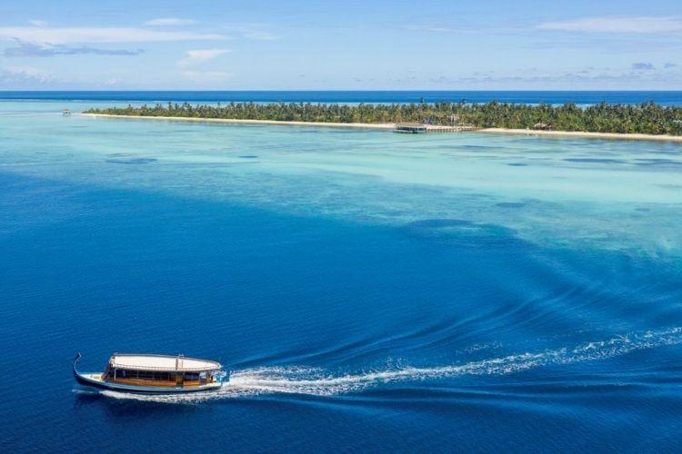 aerial view of Mercure Maldives Kooddoo