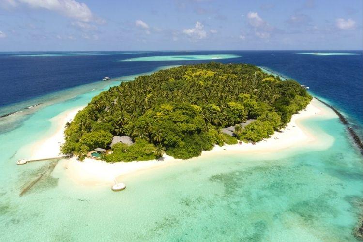 Aerial view of Royal Island Resort & Spa