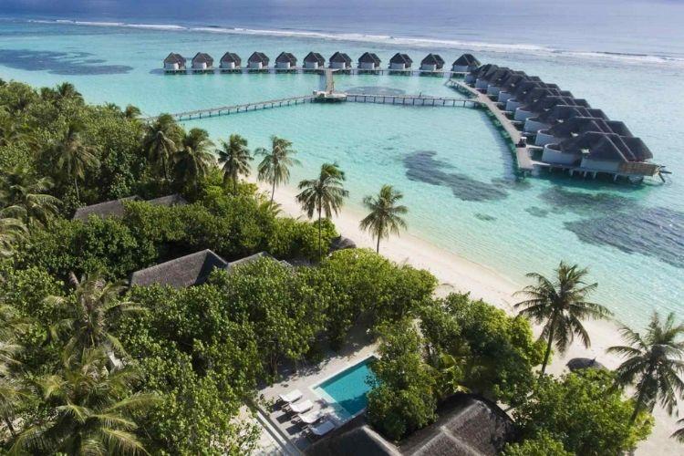 Kanuhura Maldives aerial view