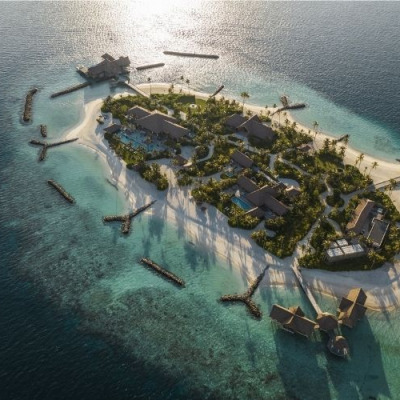 Ithaafushi – The Private Island aerial view