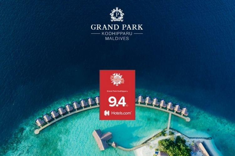 Grand Park Kodhipparu Maldives loved by guests award