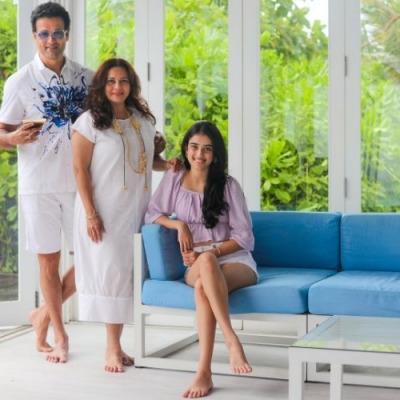 Rohit Roy & family in Maldives