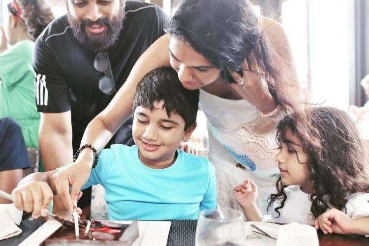 Allu Arjun celebrating son's birthday