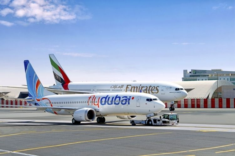 Emirates and flydubai flights