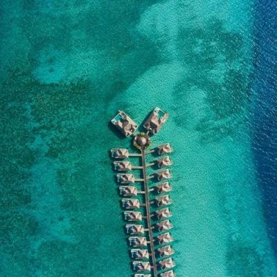 Seaside Finolhu villas aerial