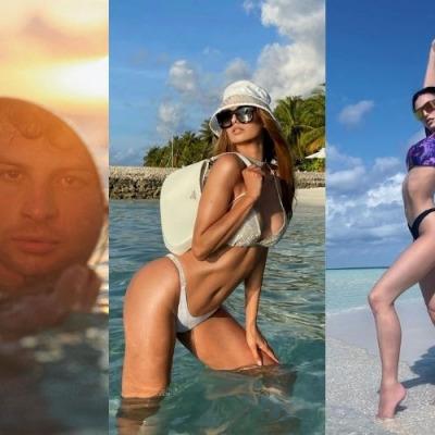 Victoria Bonya, Nicole Mazzocato and Iconize in the Maldives
