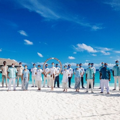 Maldives resort staff