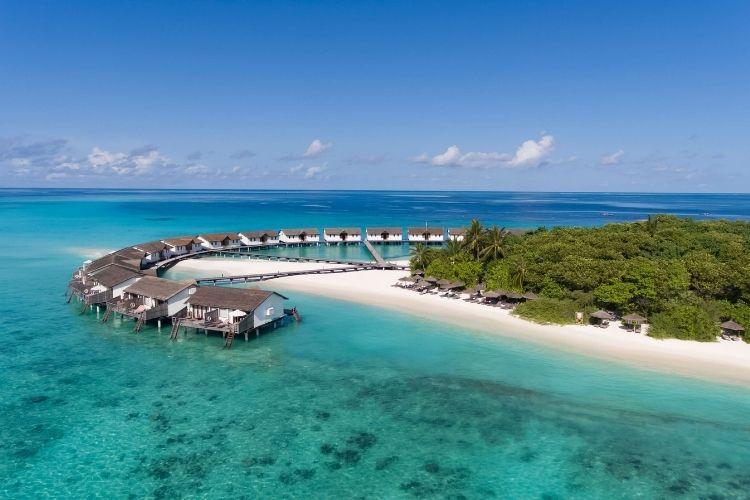 Reethi beach Resort aerial