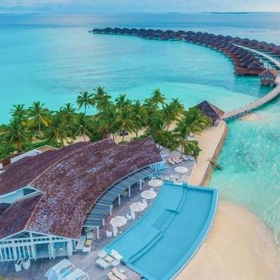 hideaway beach aerial
